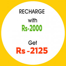 Recharge with    2000 & get    2125